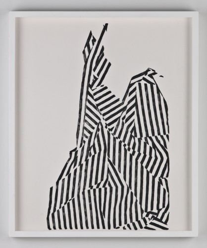 Statue, carbon on paper, 14 x 16 inches, 2010