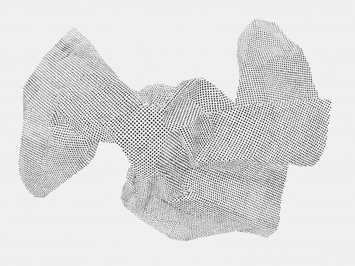 Construction, carbon on paper, 48 x 33 inches, 2010