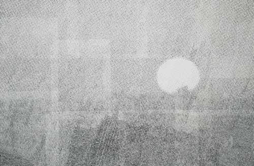 Horizon, carbon on paper, 40 x 28 inches, 2009